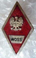 Badge- Poland Polish Military Graduation Badge- WOSS Badge (Enamel, ORG*)