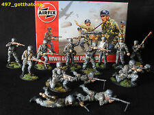 Airfix 1/32 German paratroops WW2. professionally painted. 54mm.