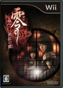 Nintendo Wii Zero Deep Crimson Butterfly Japanese Horror Adventure Game USED