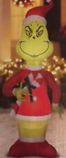 AIRBLOWN INFLATABLE GRINCH THAT STOLE CHRISTMAS 5.5 FOOT CANDY CANE PRE LIT-NEW!