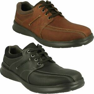COTRELL WALK MENS CLARKS LACE CUSHION COMFORT LIGHTWEIGHT LEATHER CASUAL SHOES
