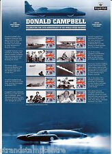Css-025 - Donald Campbell 50th Records Anniversary Commemorative Stamp Sheet