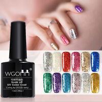 Fashion Glitter Sparkle Nail Gel Polish Shining UV LED Soak Off Nail Salon 7.3ML