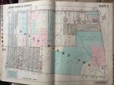 1942 Delaware Co. Pa. Upper Darby Har-Jehuda Cemetery Hillcrest School Atlas Map
