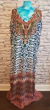 WOMENS LADIES KAFTAN LONG DRESS MAXI DRESS one size