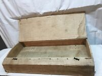Antique Steamer Trunk Wood box under Bed Storage Box with Lid 29in x 15in x4in