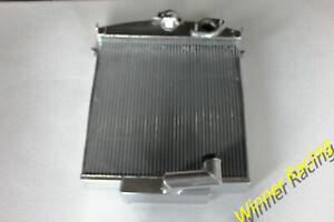 Fit Jaguar XK120 3.4 L XK I6 1949-1954 1950 1951 1952 aluminum radiator 70mm