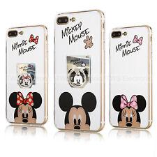 Coque Effet Miroir Mickey et Minnie Mouse Pour Iphone 6S et 7P XR Cartoon Etui