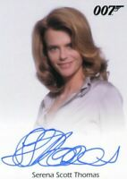 James Bond Heroes & Villains Serena Scott Thomas Molly Warmflash Autograph Card