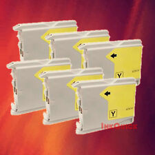 6 LC51 YELLOW INK FOR BROTHER MFC-5860CN 665CW 685CW
