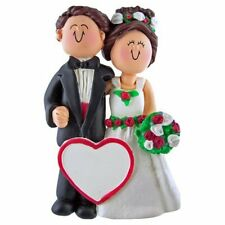 WEDDING ORNAMENT 1ST YEAR MARRIED ENGAGEMENT GIFT BRIDE GROOM PERSONALIZED FREE