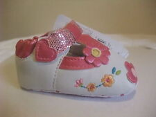 Mothercare Sweet Heart T-bar PinkBaby Girl MaryJane Shoes flowers euro 16,18,20