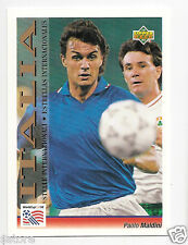 RARE '94 WC UPPER DECK CARD OF ITALIAN STAR PAOLO MALDINI IN NM/M CONDITION