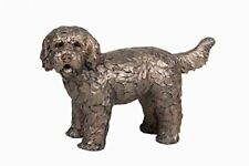 More details for frith sculptures button labradoodle dog ornament cold cast bronze figurine at034