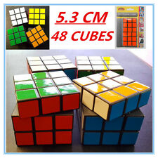 12 X Colourful Puzzle Cubes 5.3 Cm - Birthday Party Event Gift Kid Loot Bag AP