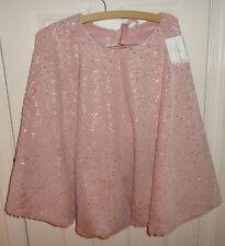 Isaac Mizrahi Christmas Tree Skirt Pink Faux Fur Metallic Pink LAST ONE!