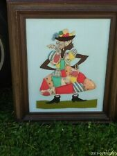 African Folk Art, Sculpture On Canvas;'' So What''