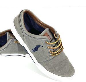 Polo Ralph Lauren Faxon Low Casual Canvas Sneaker Men's Size 9.5D Gray