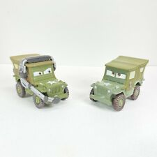 Disney Pixar Cars Movie Moments & Race Team Sarge 42 Willys Army Jeep Lot