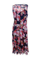 Jessica Howard Women's Pintucked Floral-Print Dress