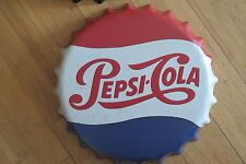 pepsi cola 35 cm bottle top   tin metal sign MAN CAVE brand new
