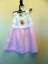 Disney. Toddler Girls Pink Plaid W/ Pink flowers Dress Size 18M