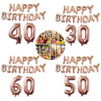 LD_ AM_ 40'' 18 21 30 40 50 60th Happy Birthday Foil Balloon Banner Party Deco