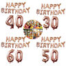 EE_ AM_ 40'' 18 21 30 40 50 60th Happy Birthday Foil Balloon Banner Party Decor