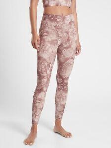 ATHLETA Elation Printed Tight Legging  S  Small | Antoinette Velvety Pink NEW