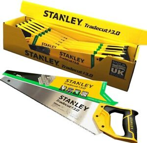 Stanley Hand Saw Tradecut Wood HandSaw Universal Cut 3 point sharp teeth 550mm