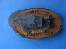 Béisbol en fragmentos de metralla madera placa frente oriental norocz lago 1917