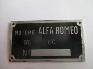 Alfa Romeo Id Nameplate 8 C 8C s1