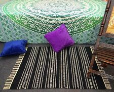 Indian Colorful Bohemian Flooring Area Rugs Chindi Woven Boho Jute Rag Rec 6201