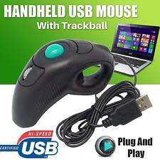 USB Wired Mouse PC Laptop Finger HandHeld Trackball Mouse Mice Laser Pointer