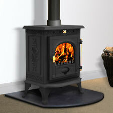 6.5KW Welton Cast Iron Log Burner Modern MultiFuel Wood Burning Stove WoodBurner