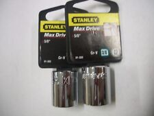 NEW STANLEY 3/8 in Drive 5/8 INCH  MAX DRIVE 12  POINT SOCKETS  TWO SOCKETS