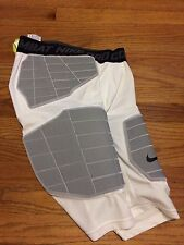 New Nike Men's L Pro Combat Hyperstrong Basketball Short Padded White $85 Comp