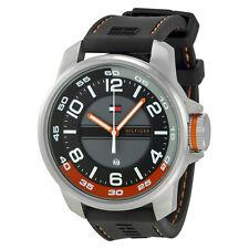NIB Tommy Hilfiger Fisher Black Dial Men's Quartz Watch 1790716