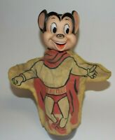 Vintage Mighty Mouse Hand Held Puppet TV Toon Ideal Toys Used