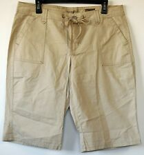 Nine West Vintage American Tan Beige Bermuda Walking Cotton/Spandex Shorts 10/30
