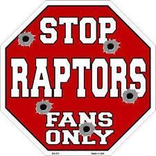 NBA Basketball Toronto Raptors Metal Stop Sign Man Cave Garage Barn Shop BS-270