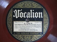 78 RPM-Vocalion A14615-Excerpts From Pinafore Pts 1/2-Aeolian Mixed Quartette