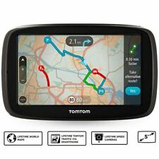 TomTom GO 51 5in GPS Sat Nav - Worlwide LT Maps & Traffic Via Smartphone (A)