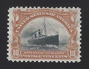 US #299 1901 Yellow Brown & Black Wmk 191 Perf 12 Mint NG Thin F-VF SCV $125