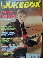 revue JUKEBOX MAGAZINE n° 218 JOHNNY HALLYDAY CROSBY STILLS NASH YOUNG