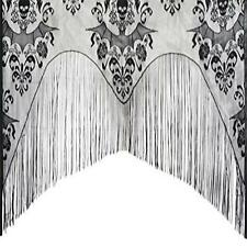 Gothic Black Lace Skull Bat Curtain Valance Topper Shawl Halloween Haunted House