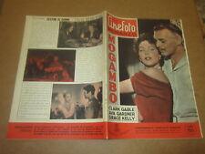 "CINEFOTO ROMANZO N°1/1955 ""MOGAMBO""C.GABLE AVA GARDNER GRACE KELLY"