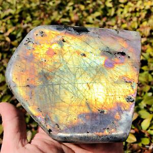 1360g Natural Labradorite Crystal Rough Polished Rock From Madagascar L277