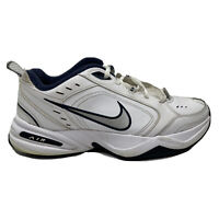 Nike Air Monarch 4 Walking Shoes Mens Size 8.5 8 1/2 White Sneakers 415445-102