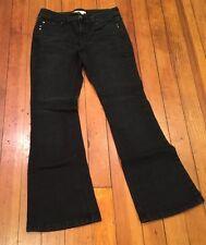 White House Black Market Sz 4S Faded Black Denim Jeans Bootcut EUC